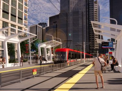 Rendering of the 2 Avenue S.W. Station platform
