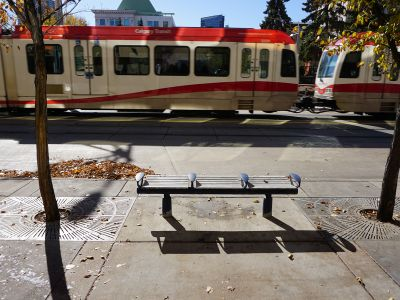 Standard city metal bench