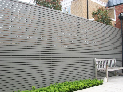 metal panel screening wall