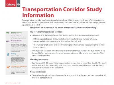 Corridor Study Info
