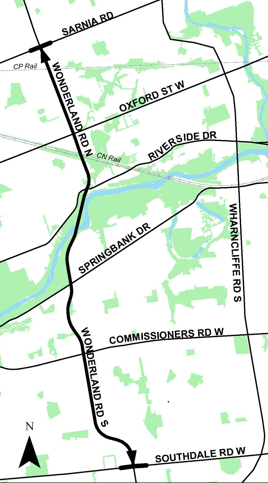 map of wonderland road