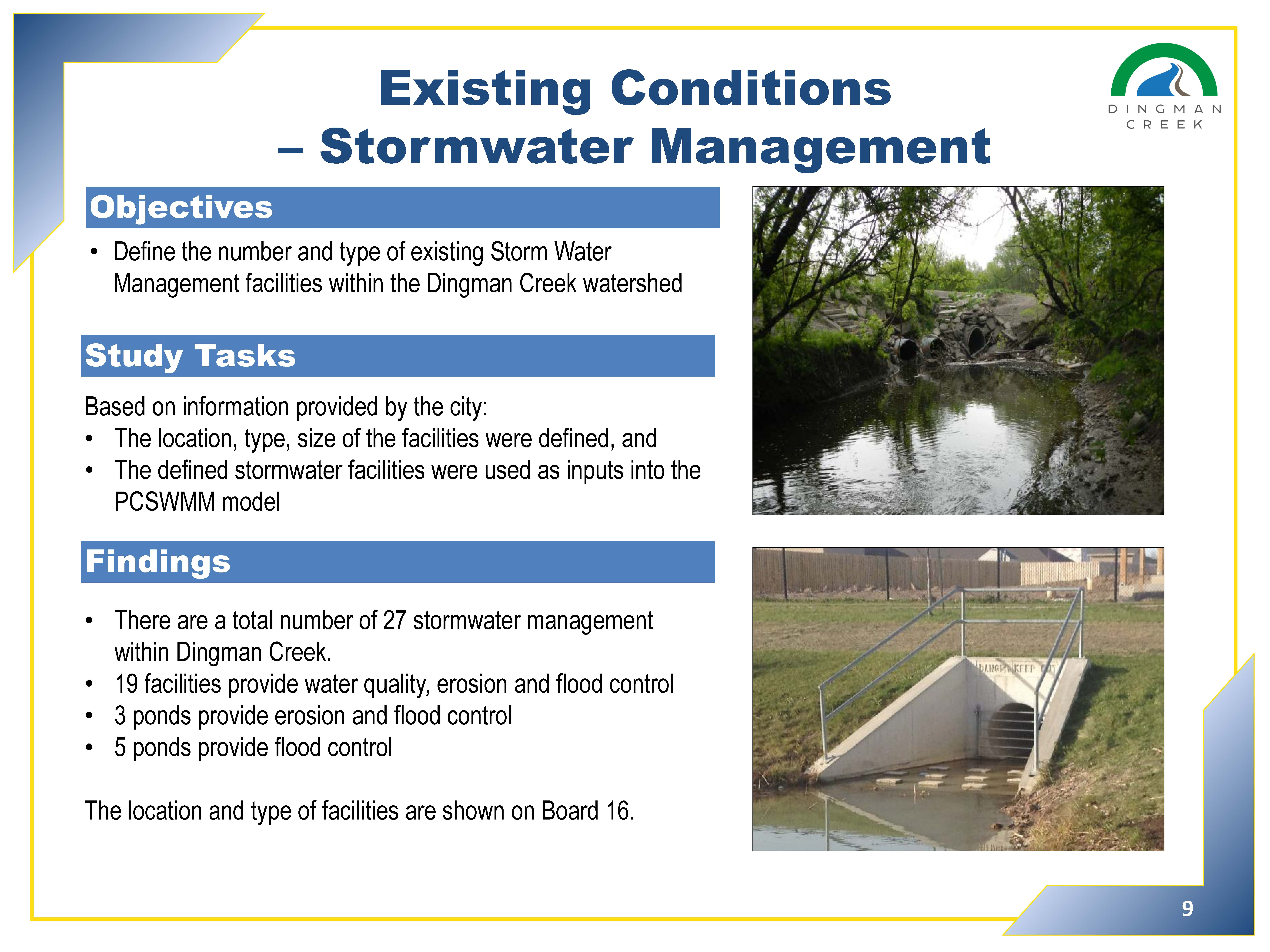 Existing Conditions - stormwater management -