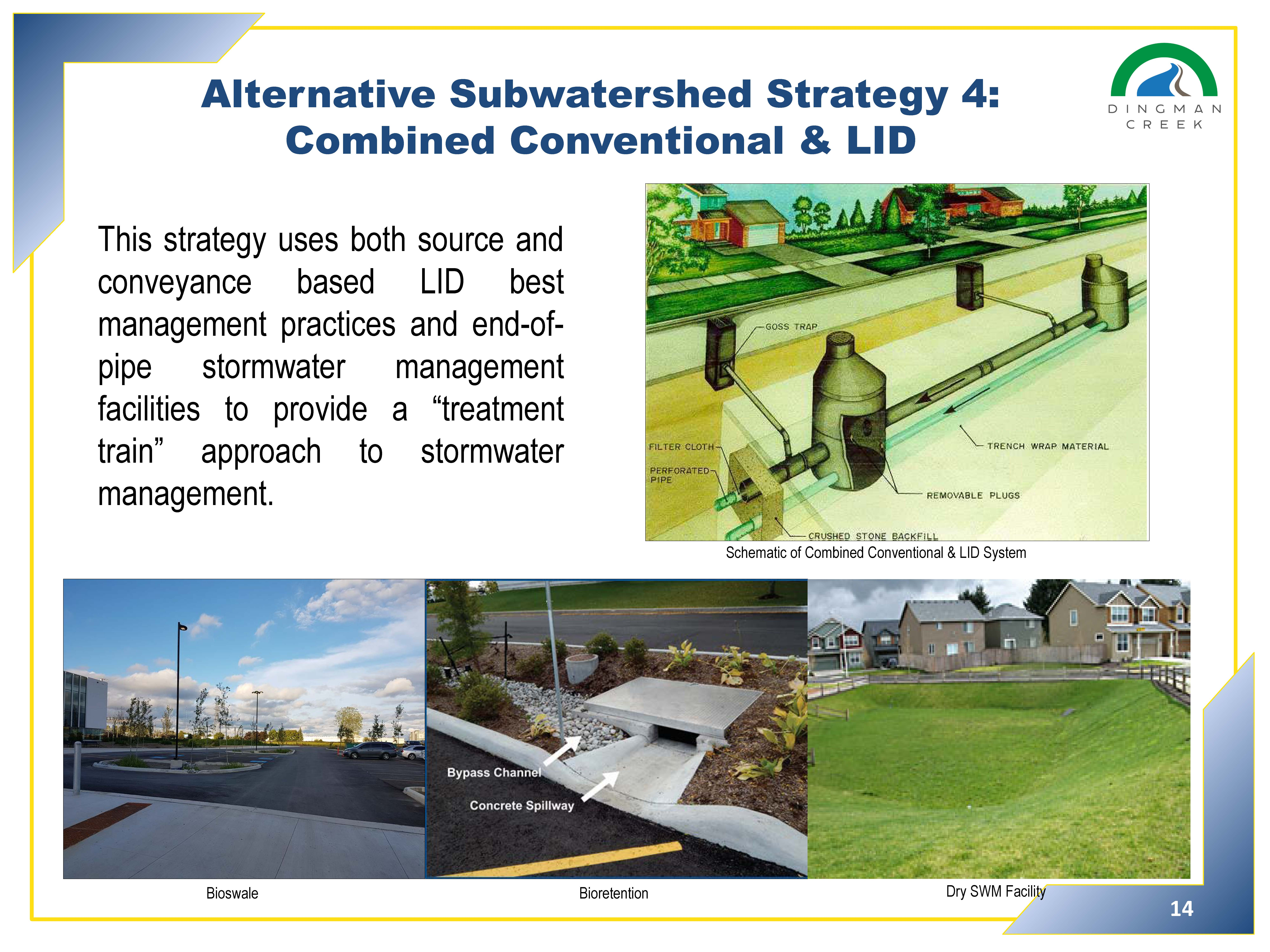 Alternative subwatershed strateg 4 - Combined conventional and LID