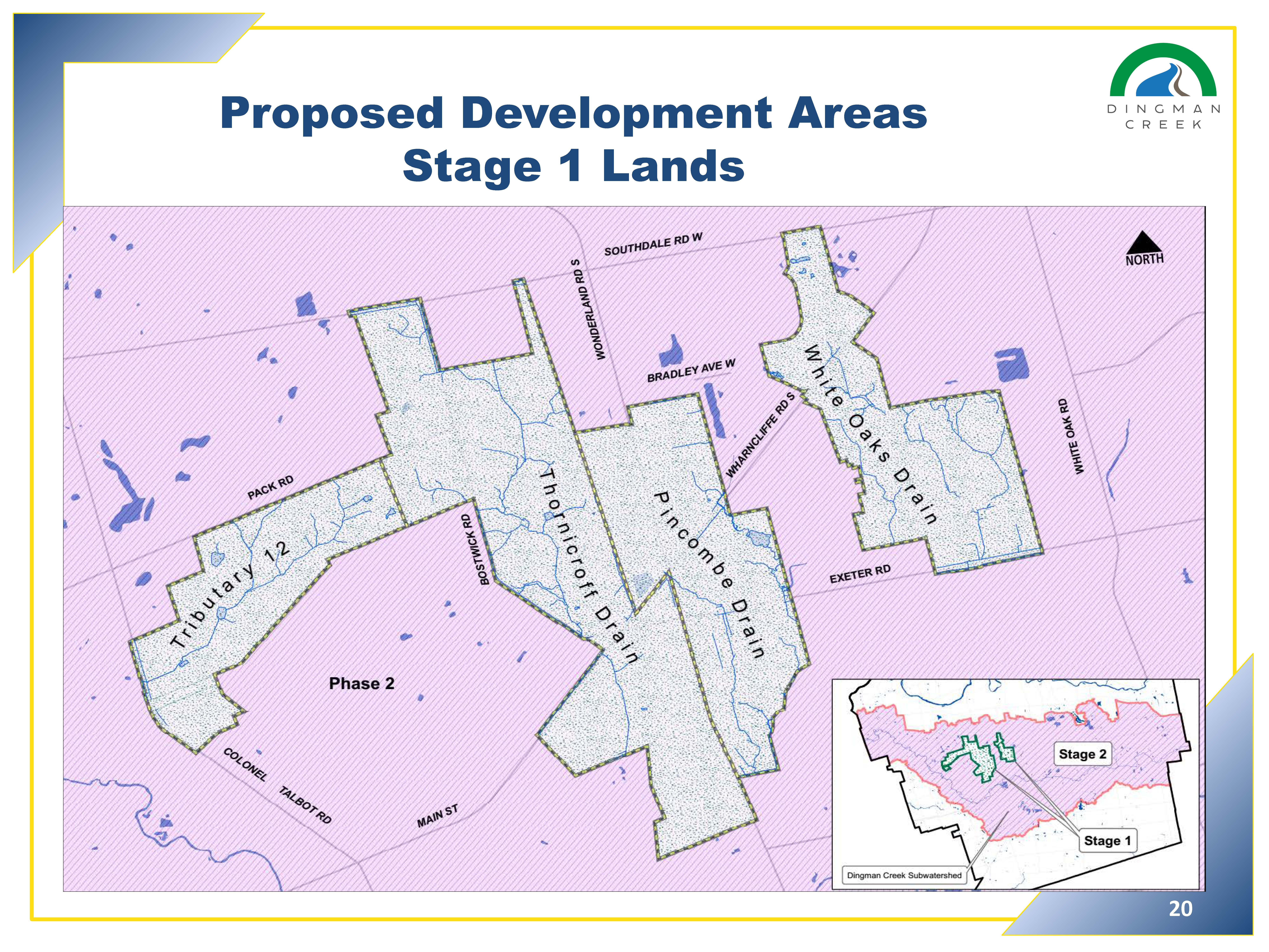 Proposed Development Areas Stage 1 Lands