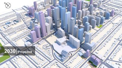 Buildings at Yonge and Eglinton in 2030