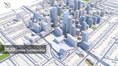 Buildings at Yonge and Eglinton in 2020