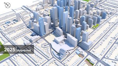Buildings at Yonge and Eglinton in 2025