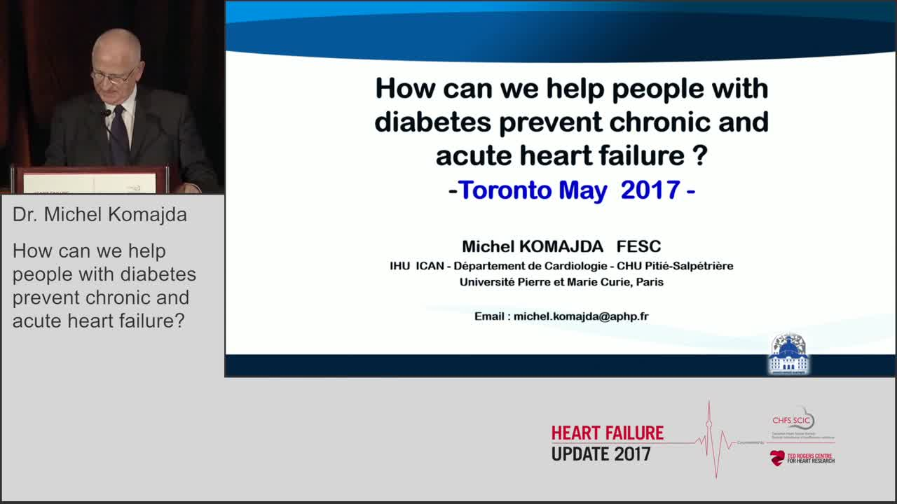 How can we help people with diabetes prevent chronic and acute heart failure?