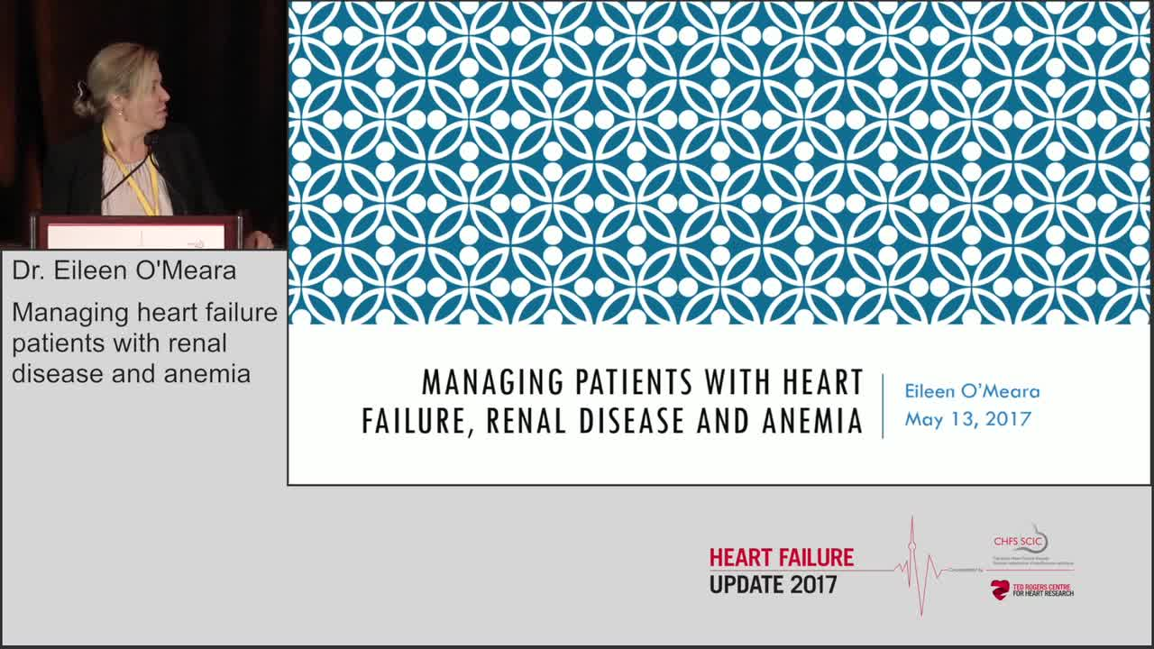 Managing heart failure patients with renal disease and anemia