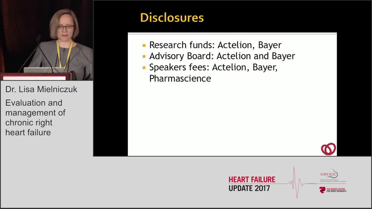 Evaluation and management of chronic right heart failure