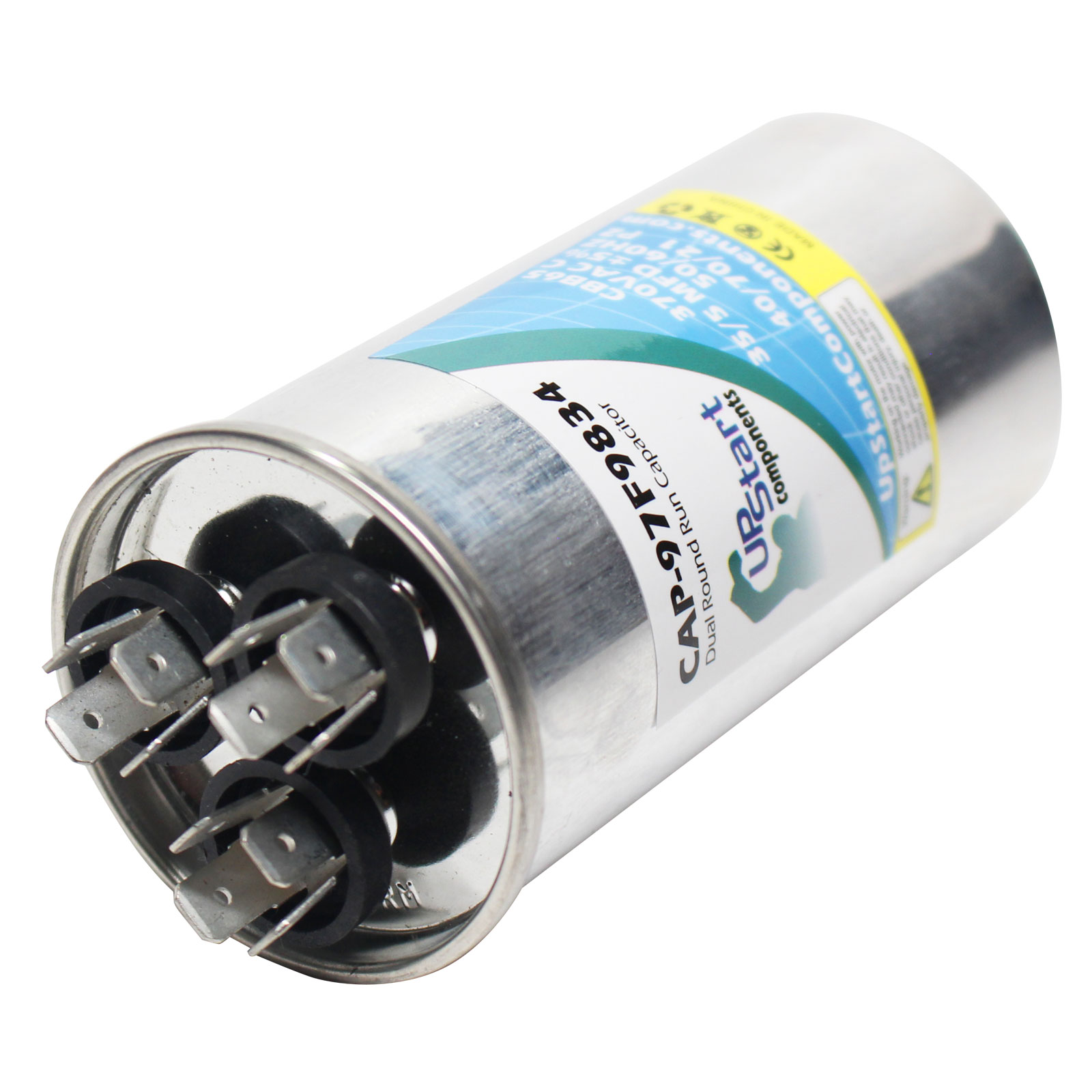 4x 35//5 MFD 370 Volt Dual Round Run Capacitor for Carrier 38CKC030340 38TKB02431
