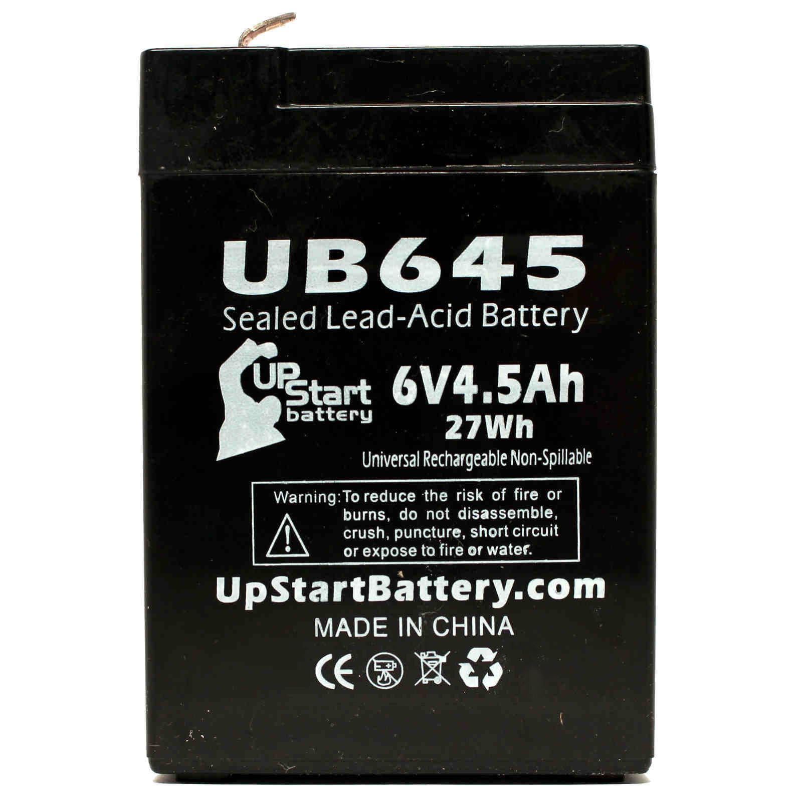 UPG 6v 4.5AH SLA Replacement for Streamlight Vulcan Sho-me with Charger 44007