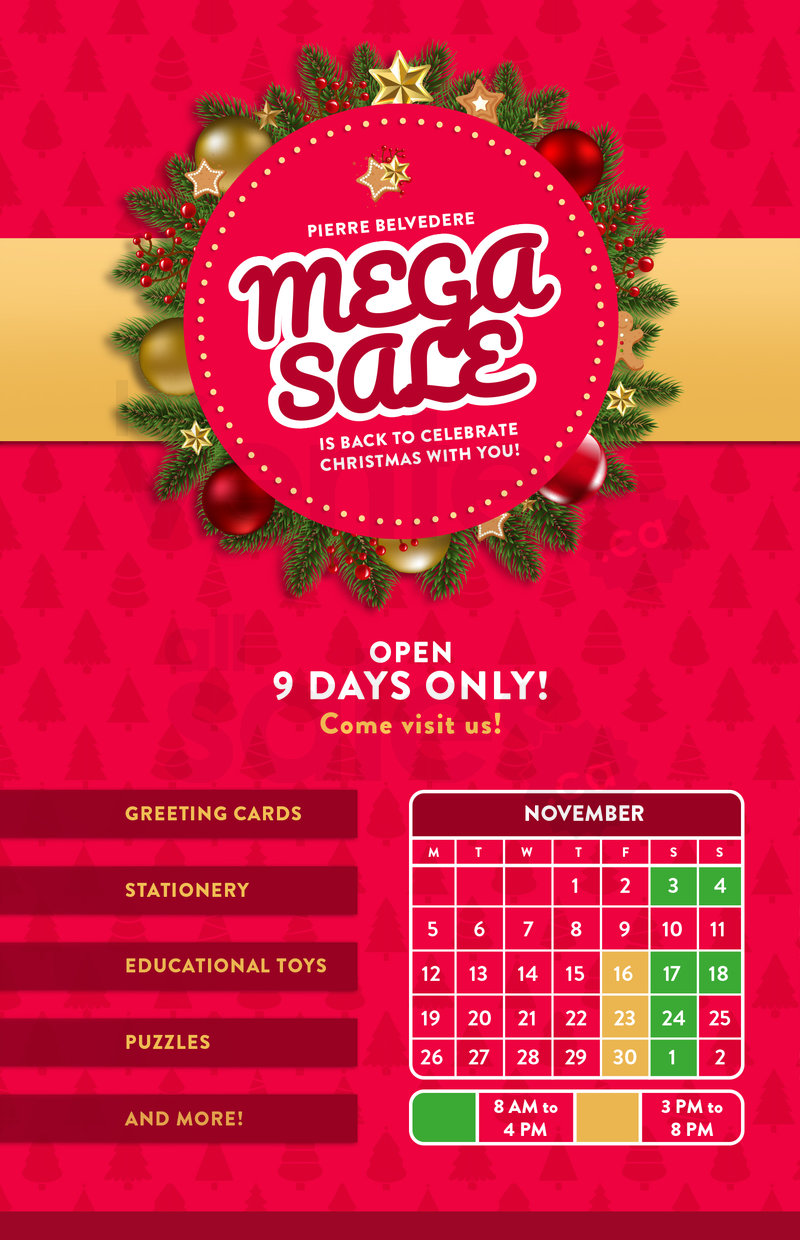 7b998467956d0 The mega warehouse sale Pierre Belvedere is back to celebrate Christmas  with you! Great savings on stationery, educational games and toys, puzzles,  ...