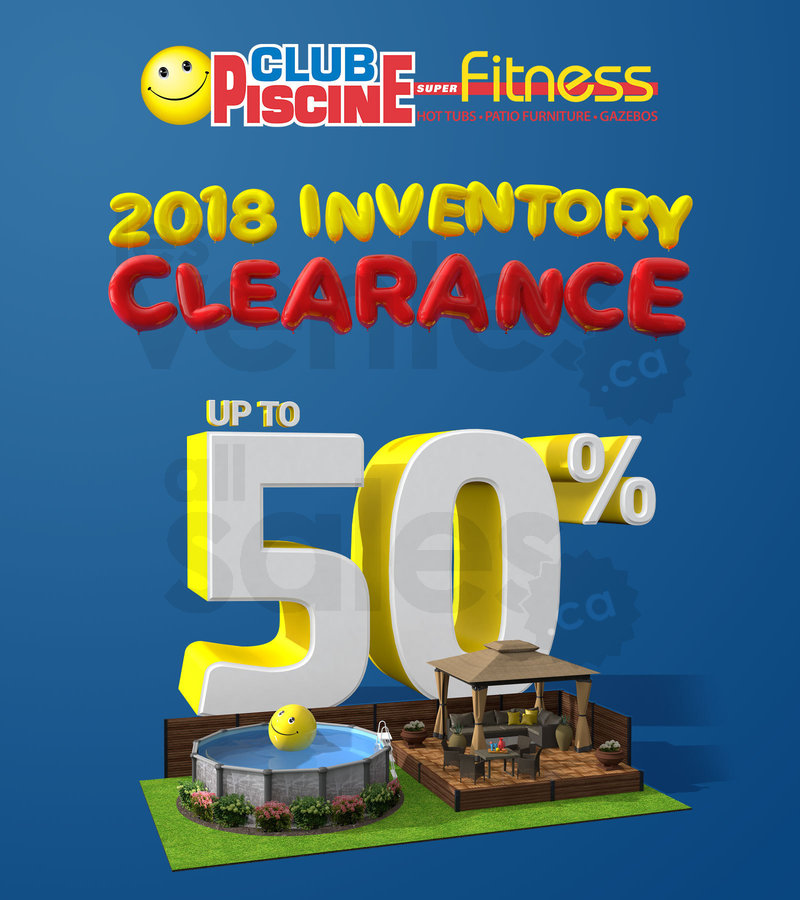 Inventory Clearance at Club Piscine   allsales ca