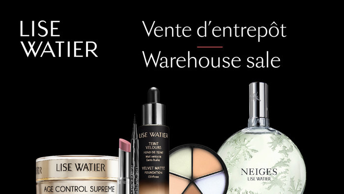 Image result for Lise Watier Warehouse Sale Fall 2019 ьщтекуфд
