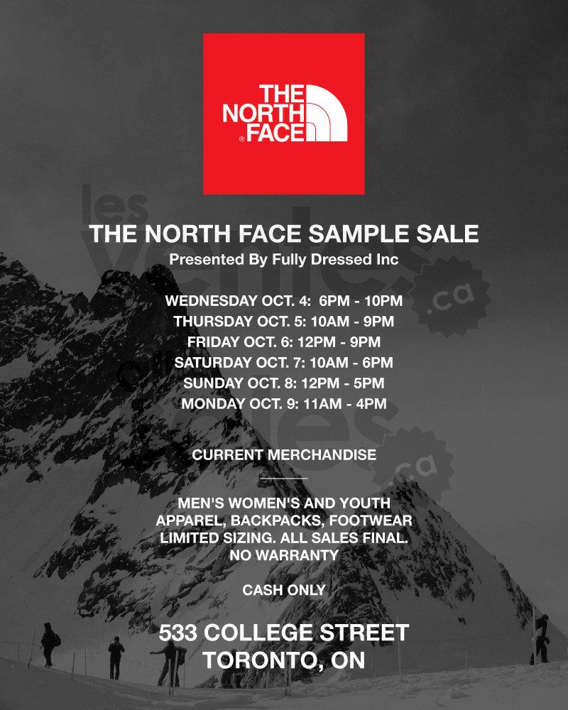 71d3b3739 Toronto: The North Face Sample Sale | allsales.ca