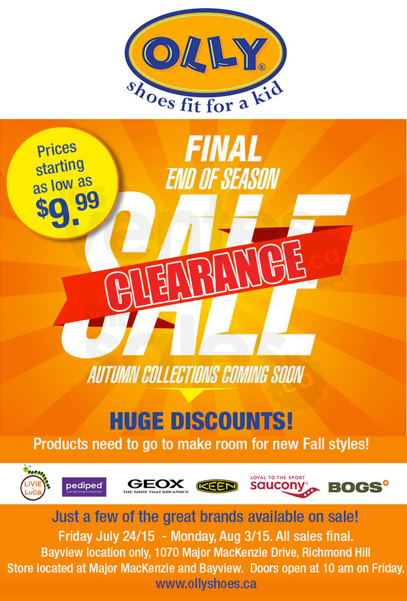 43249e794e0a Final end of season clearance kids' shoes sale in Toronto! Great brands  like Livie & Luca, Pediped, Geox, Keen, Saucony, Bogs... starting at $9.99.