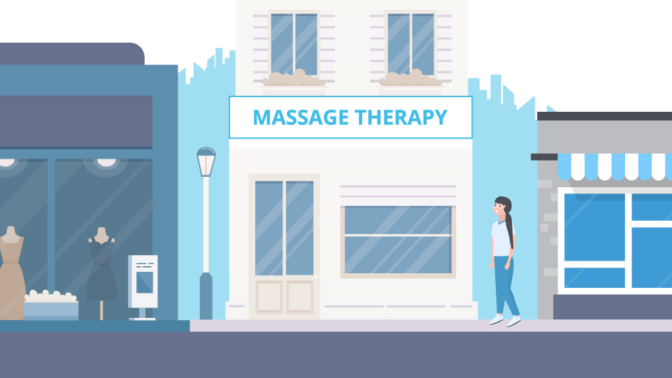 Front of massage therapy business
