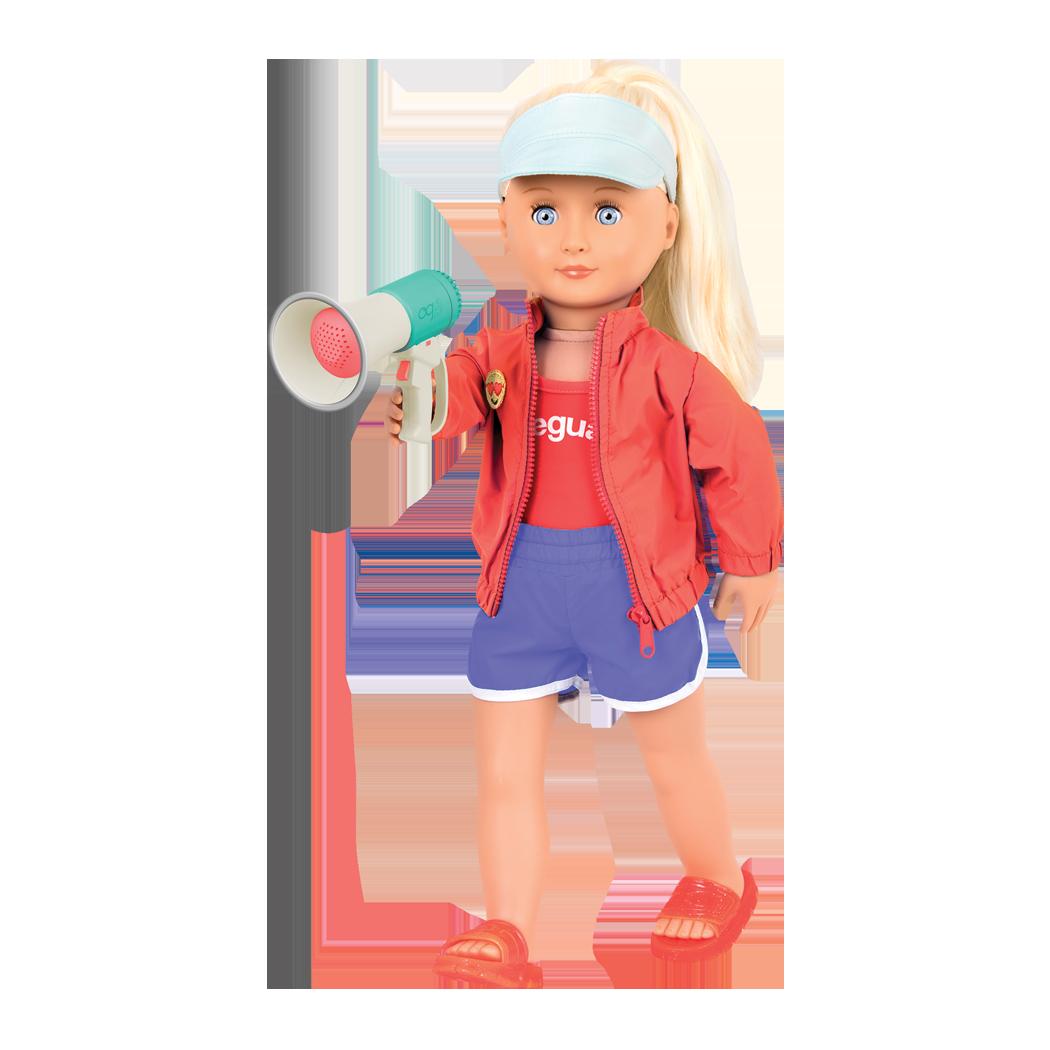 Seabrook holding megaphone