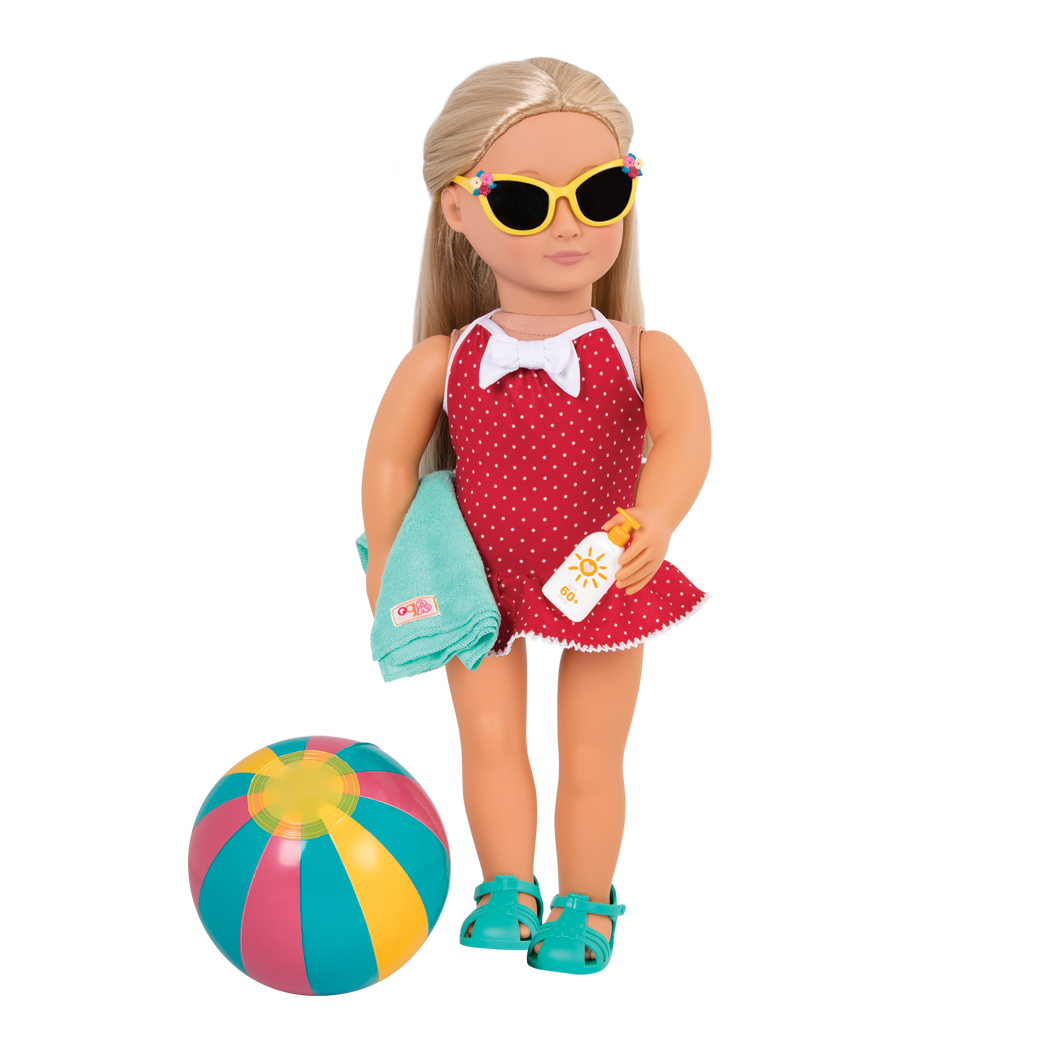Ginger wearing beach Belle outfit