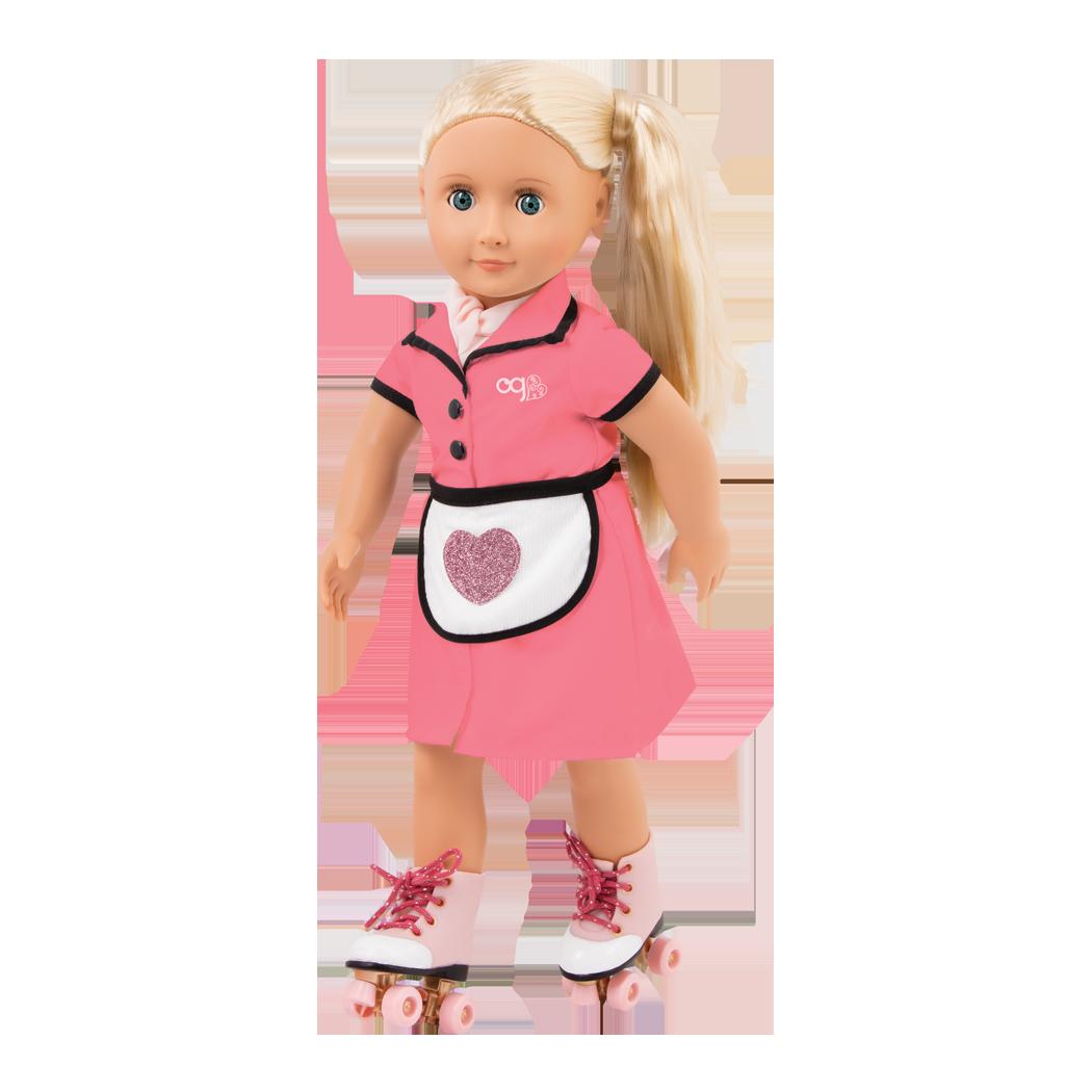 Rachel 18-inch Retro Waitress Doll on Rollerskates