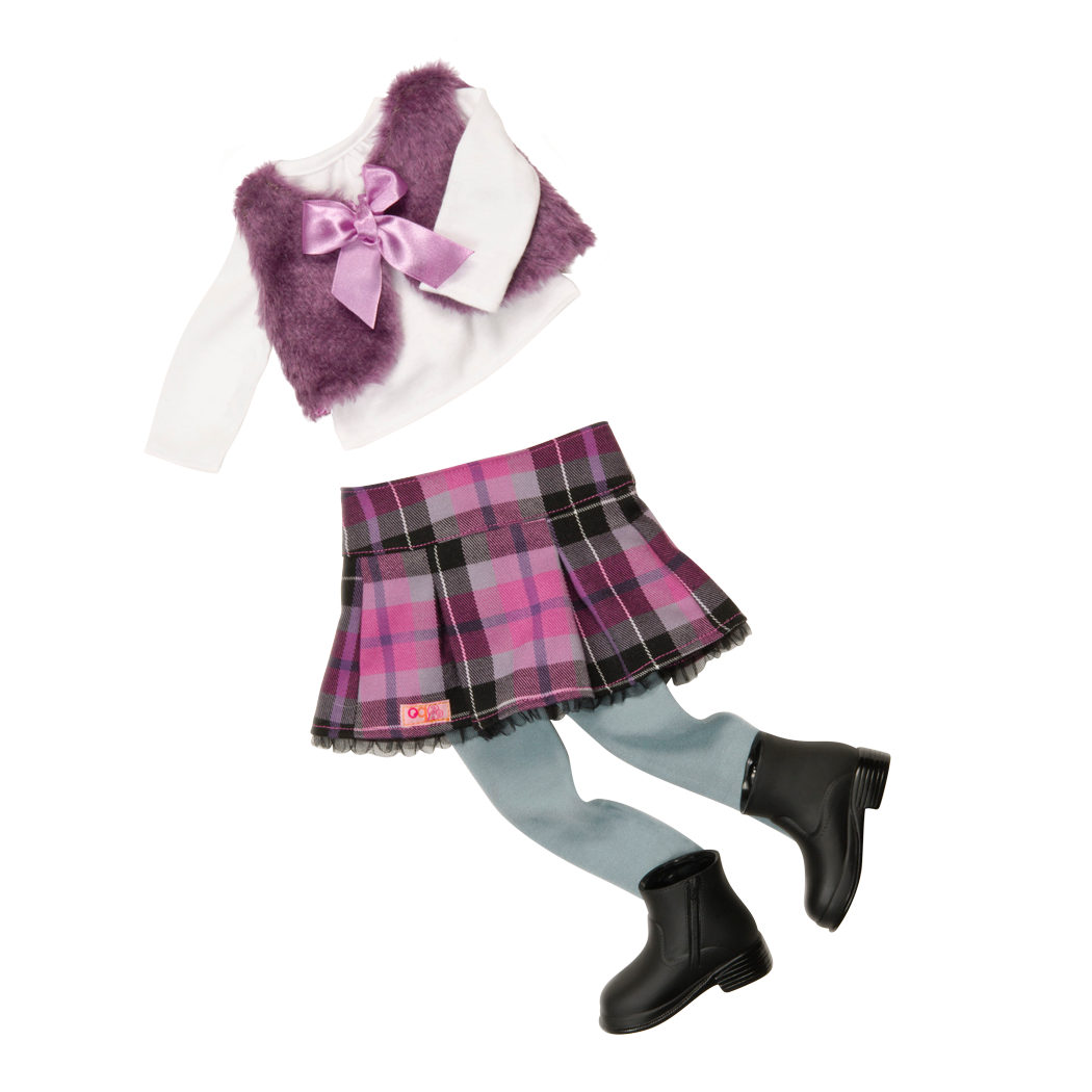 A Tad Plaid Outfit for 18-inch Dolls