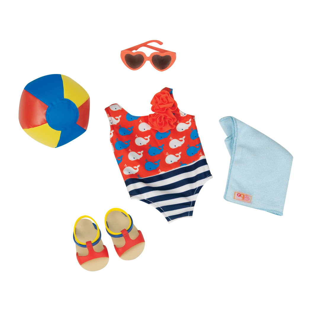 Having a Ball swimsuit outfit for 18-inch dolls