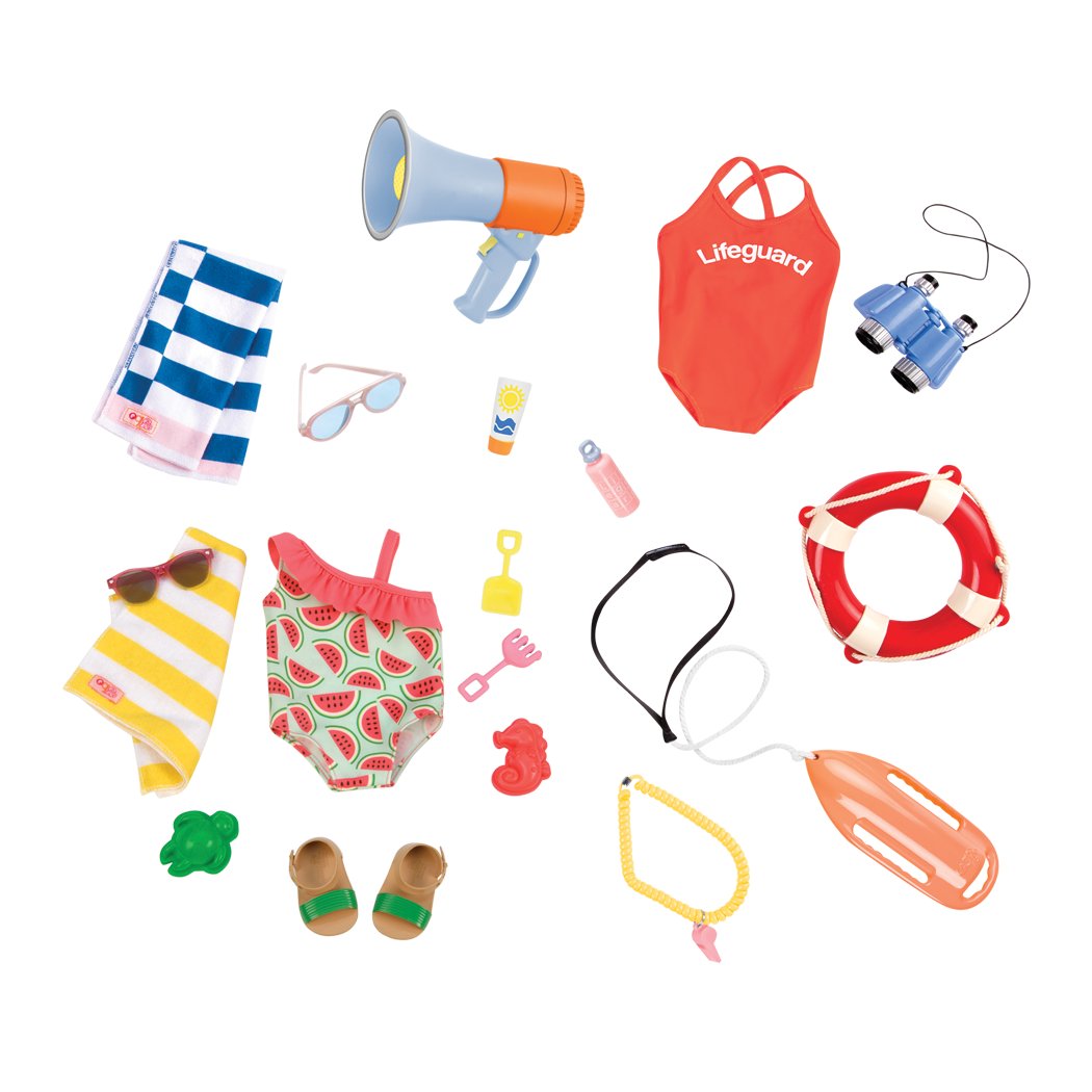 Lifeguard and SliceofFun Outfits for 18inch dolls