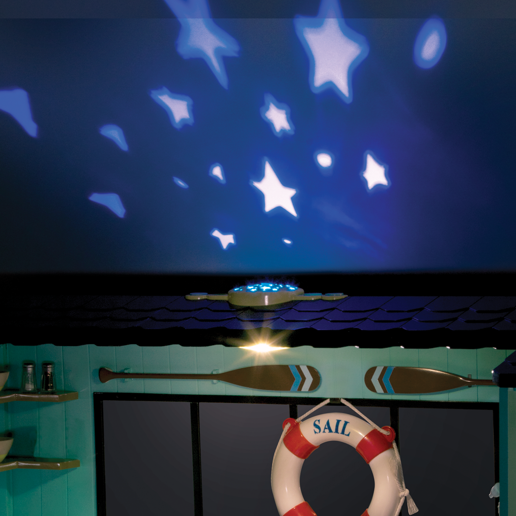 Seaside Beach House star projector with sounds