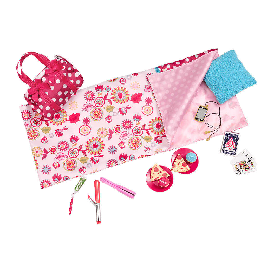 Polka Dot Sleepover Set all components