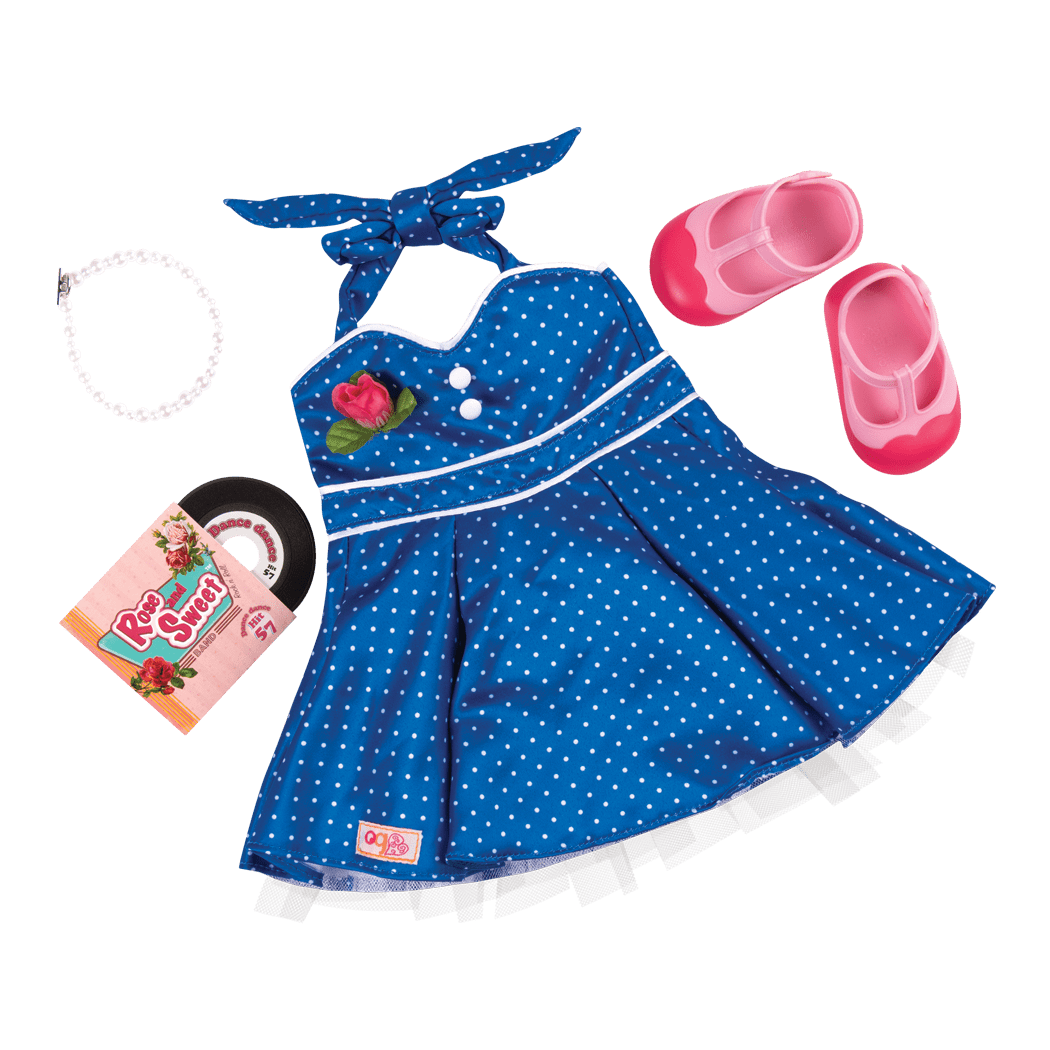 Dance Party Retro outfit for 18-inch Dolls