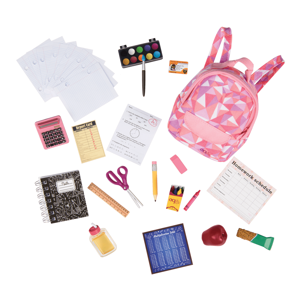 Off to School accessory set for 18-inch Dolls