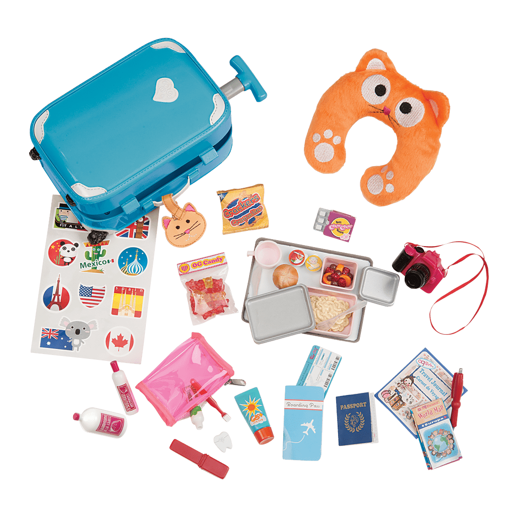 Well Traveled Luggage Set for 18-inch Dolls