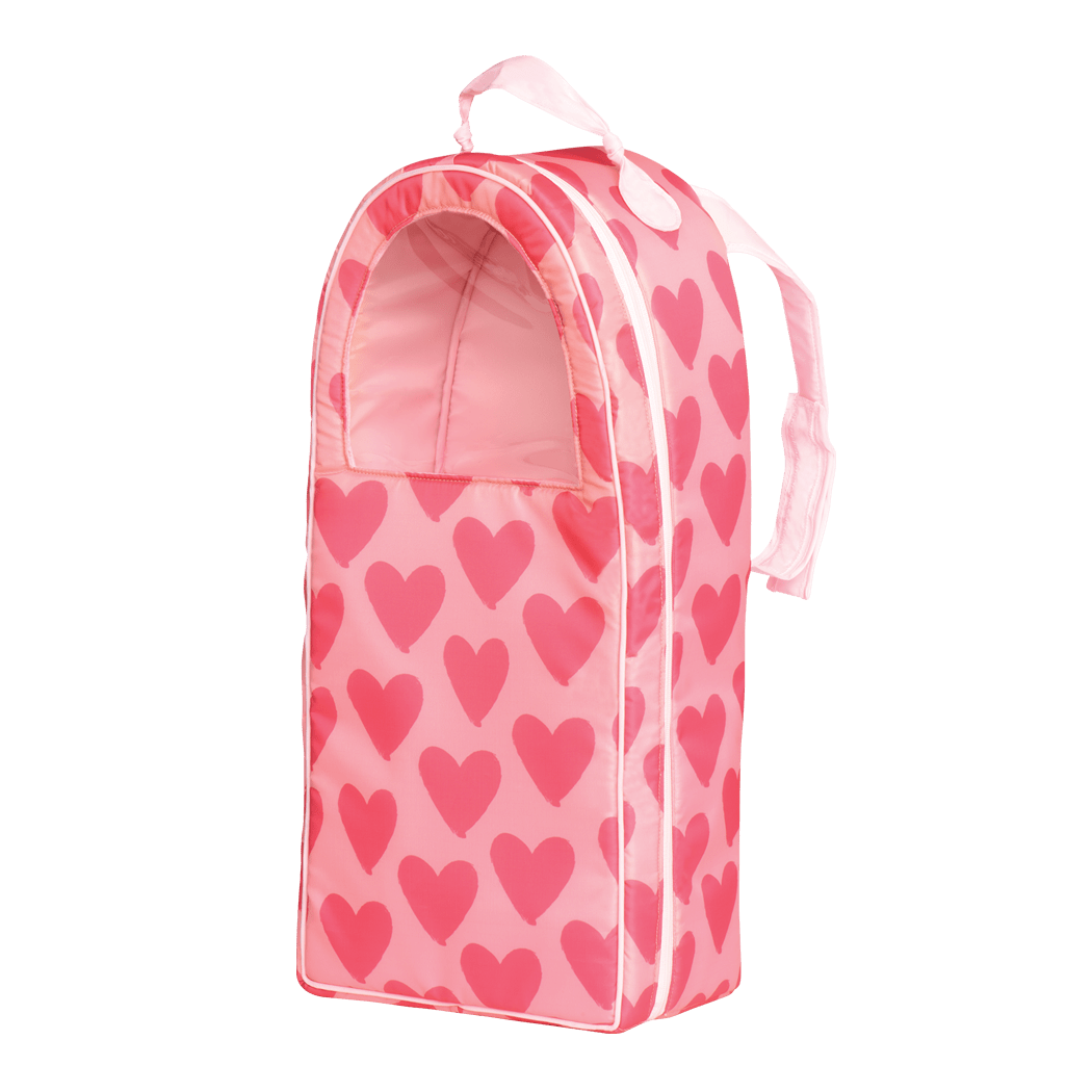 Going My Way Doll Carrier - Pink Hearts