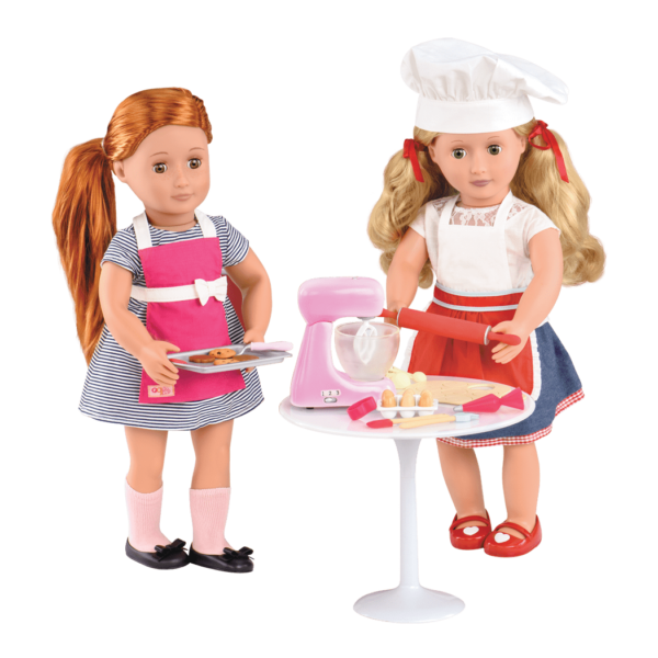 Noa and Jenny baking cookies