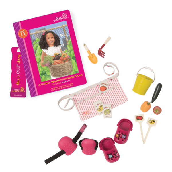 Nahla Read & Play - Outfit and Book Set for 18-inch Dolls