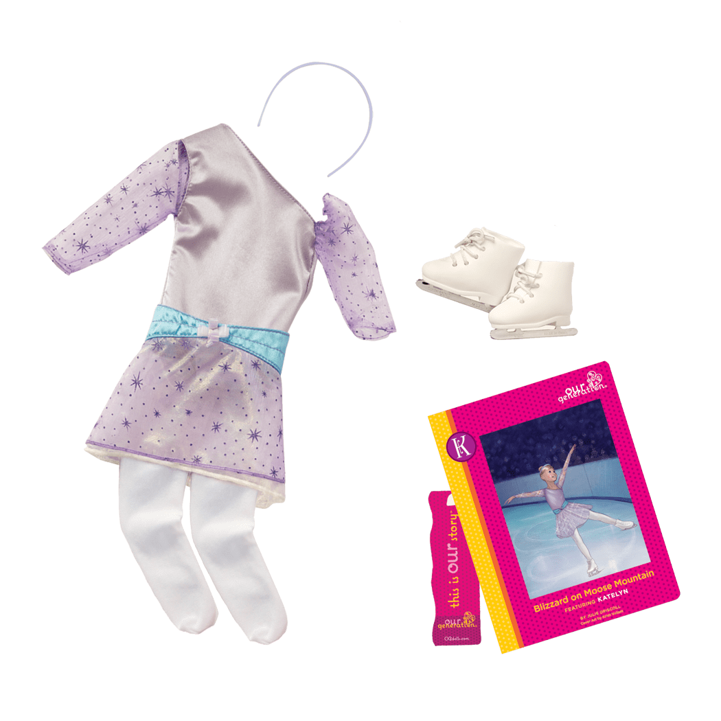 Katelyn Read & Play - Outfit and Book Set for 18-inch Dolls