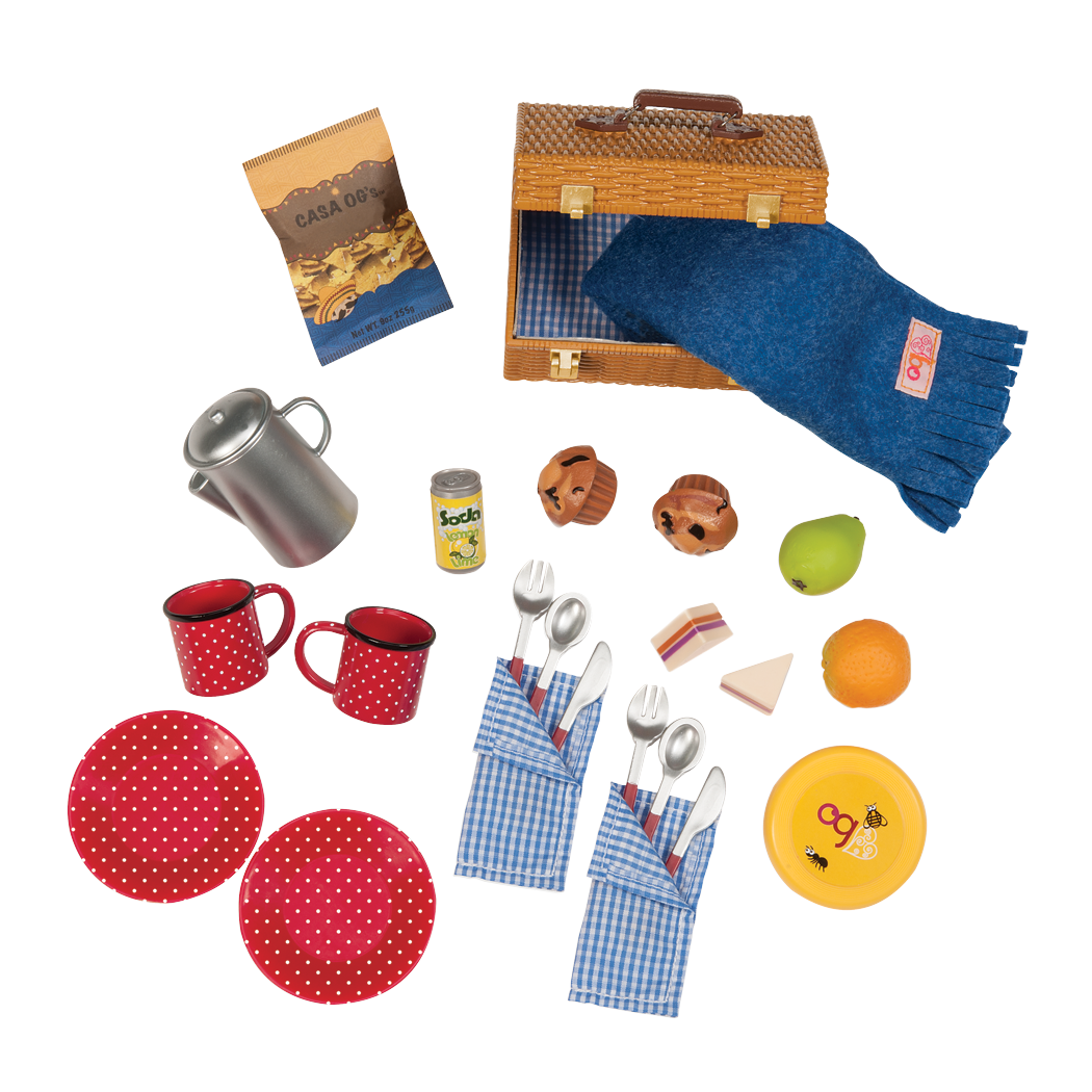 Packed for a Picnic Set for 18-inch Dolls