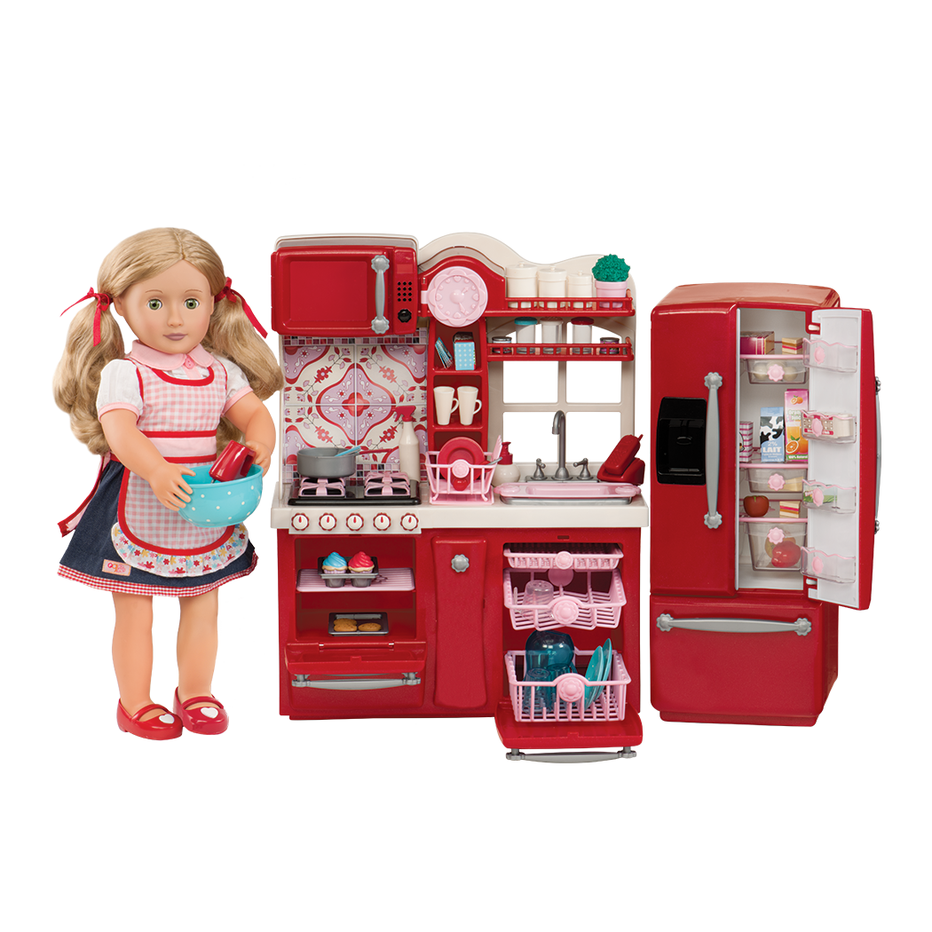 Gourmet Kitchen Red with Jenny deluxe doll