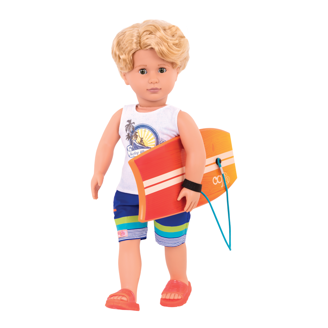 Gabe 18-inch Boy Doll in Surfer Outfit