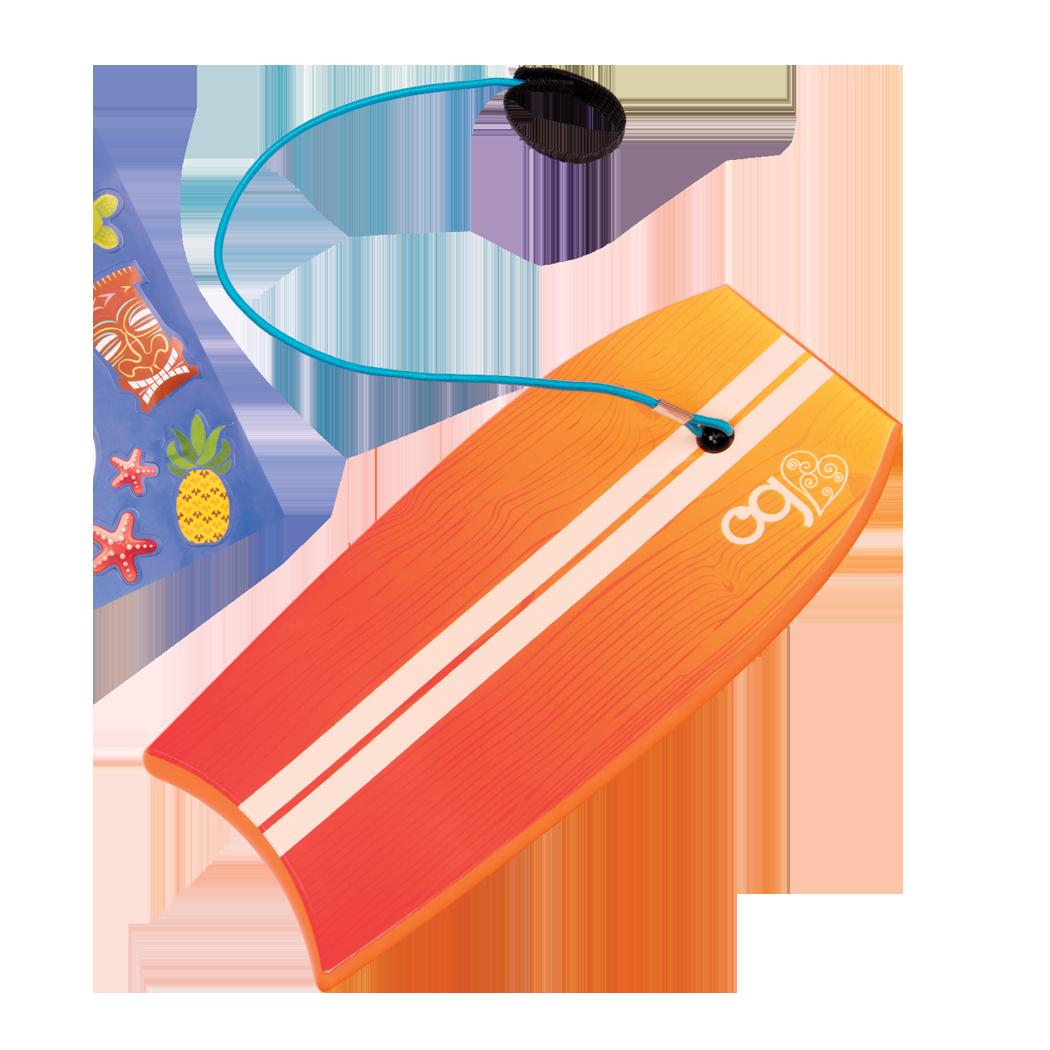 Deatil of Gabe's surfboard