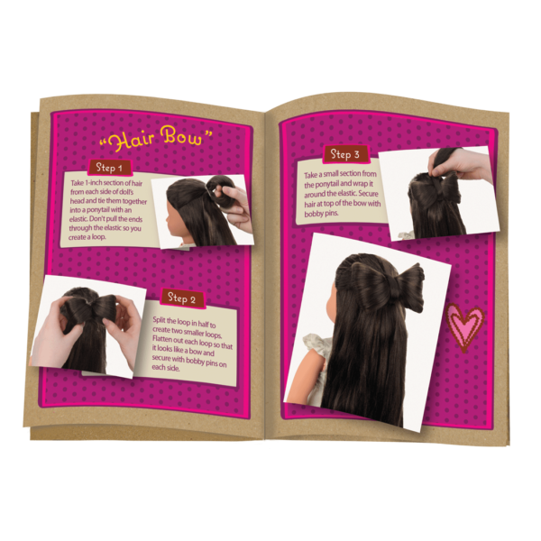 Detail of hair style guide