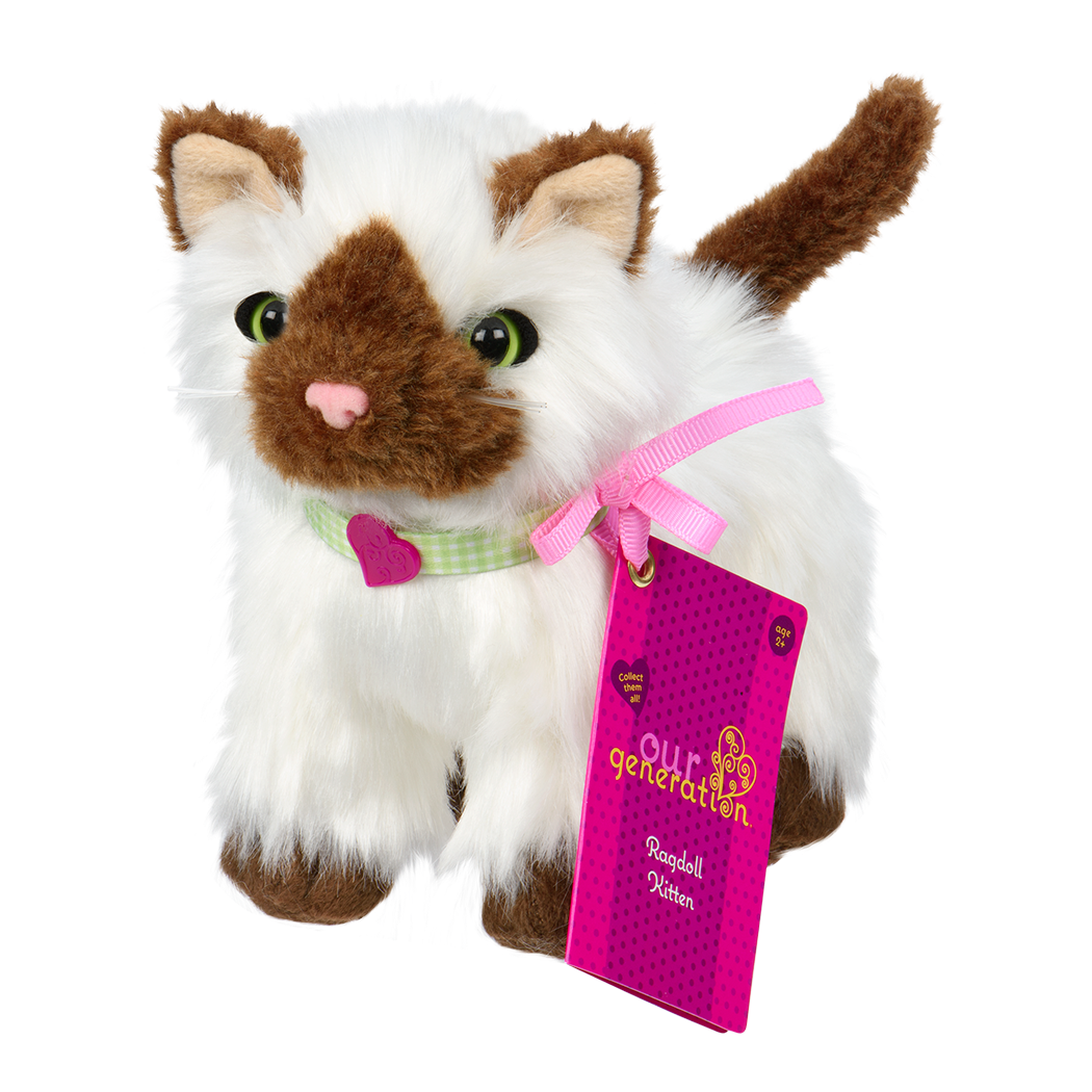 Ragdoll Kitten plush toy with label01