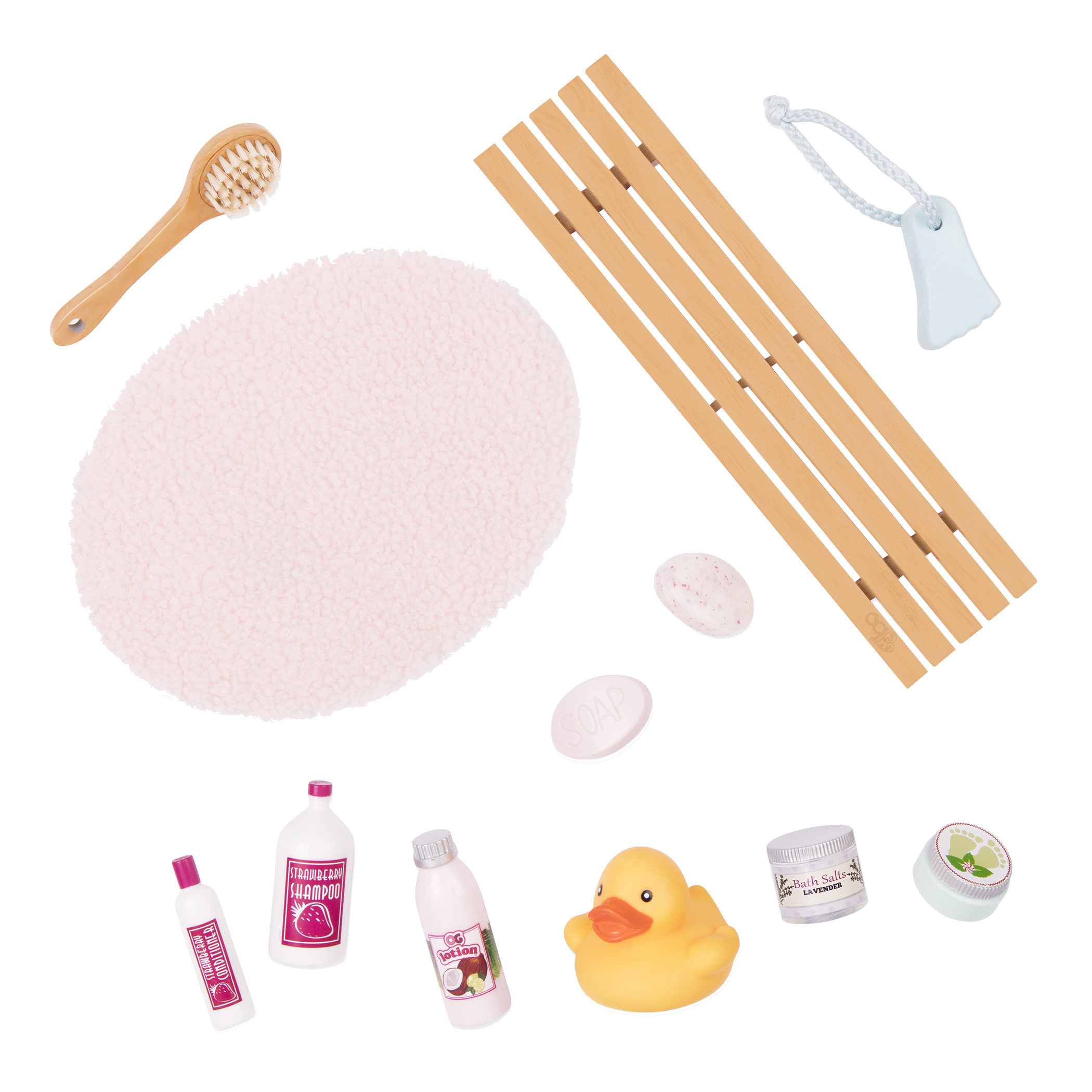 Bath and Bubbles Set accessories detail