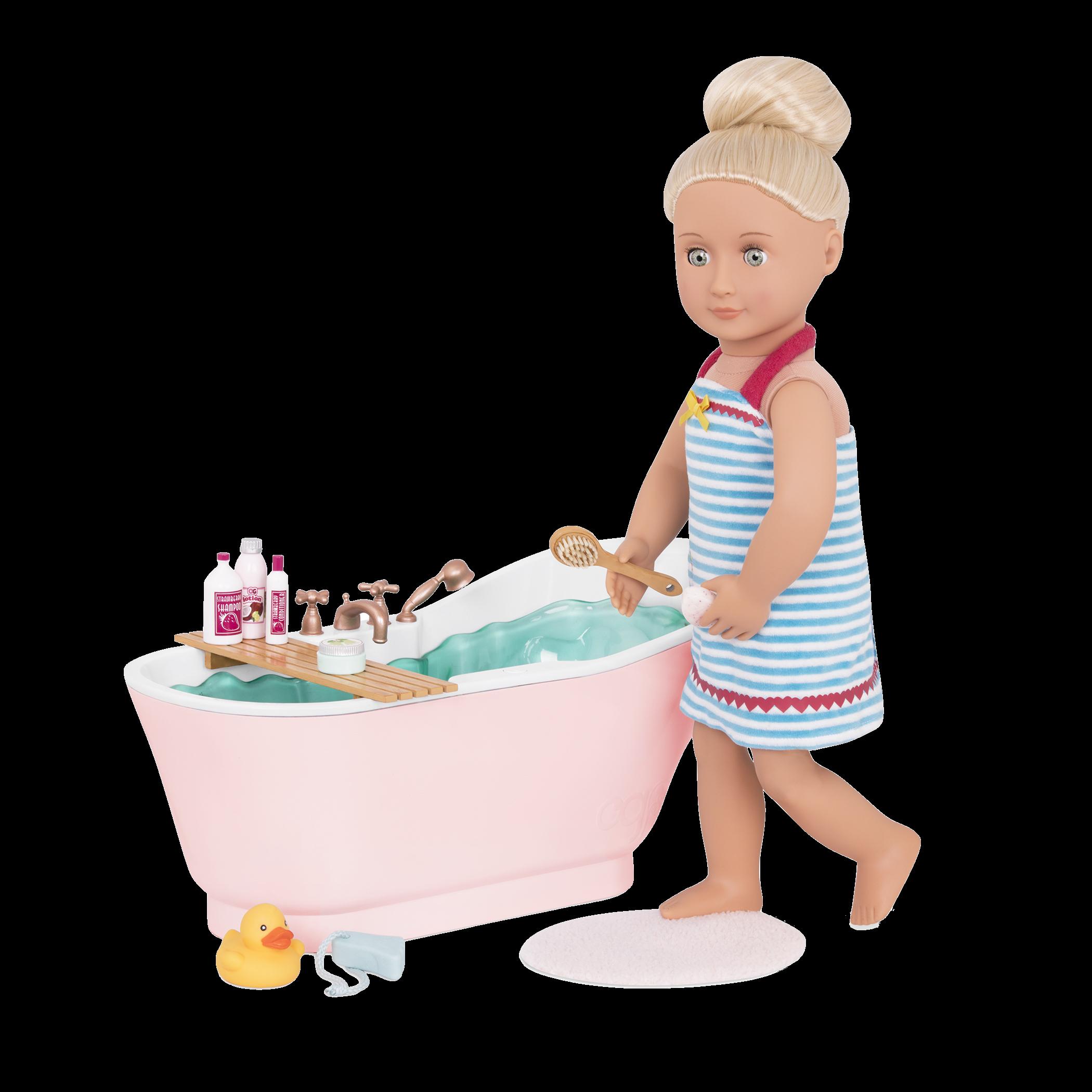 Bath and Bubbles Set Naya getting ready for bath