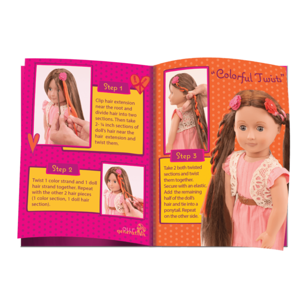 BD37017A Parker Pink Dress Hairplay Doll hairstyle booklet04