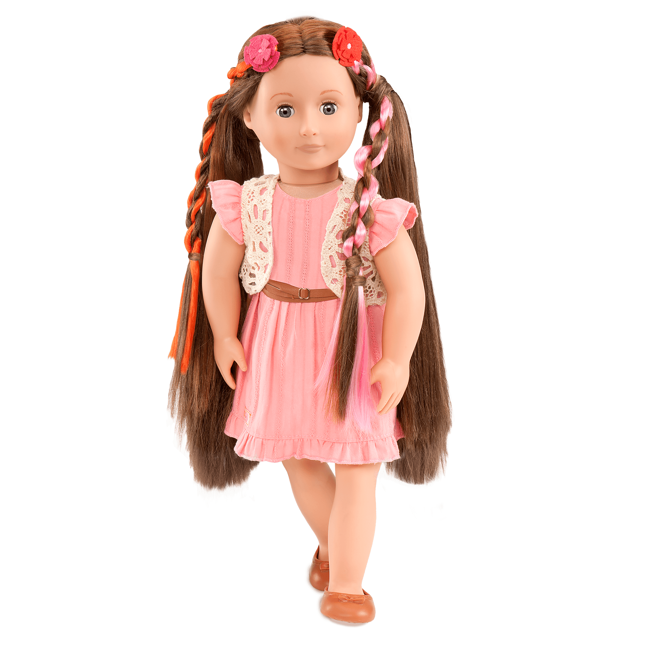 BD37017A Parker Pink Dress Hairplay Doll03