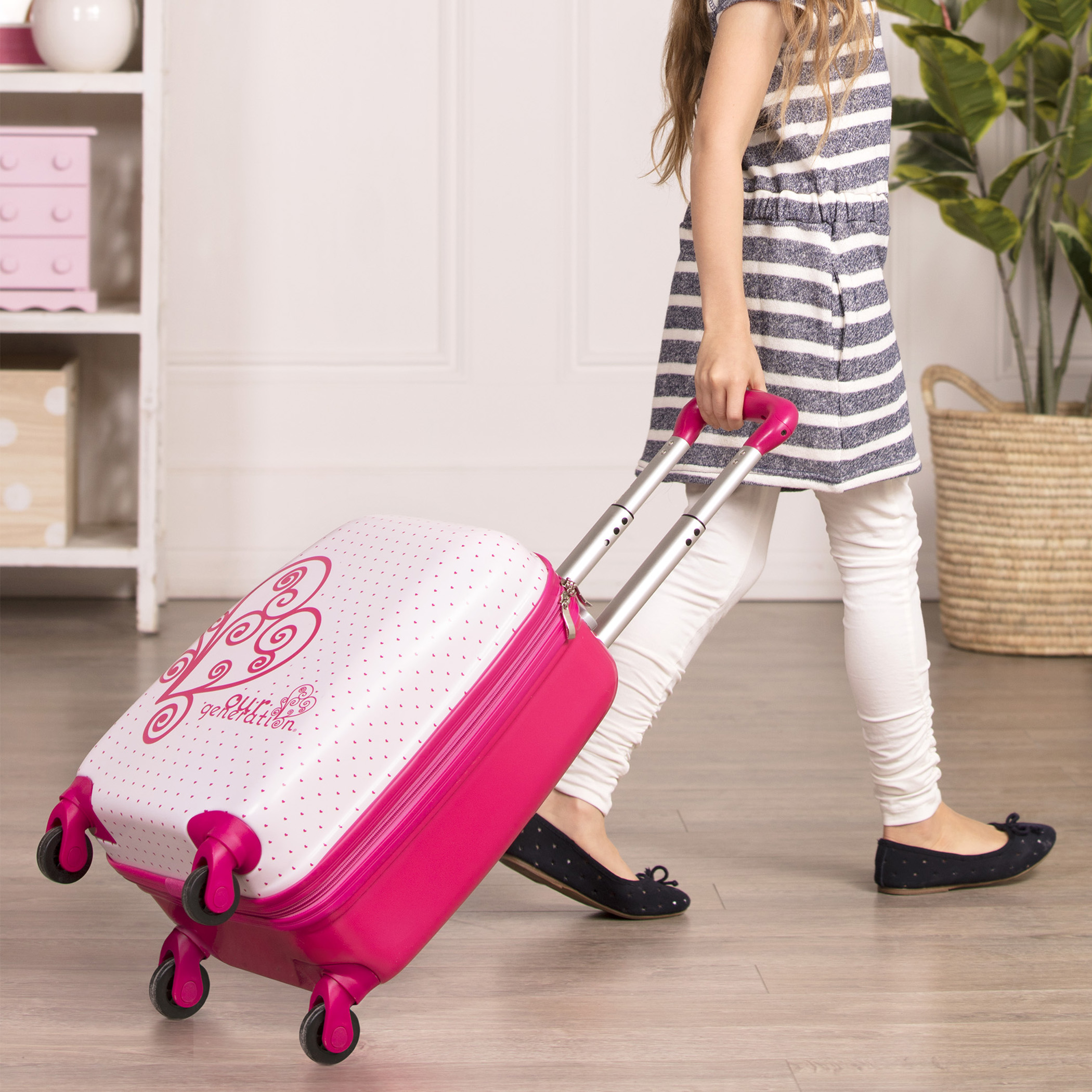 Carry On Dreaming girl pulling suitcase