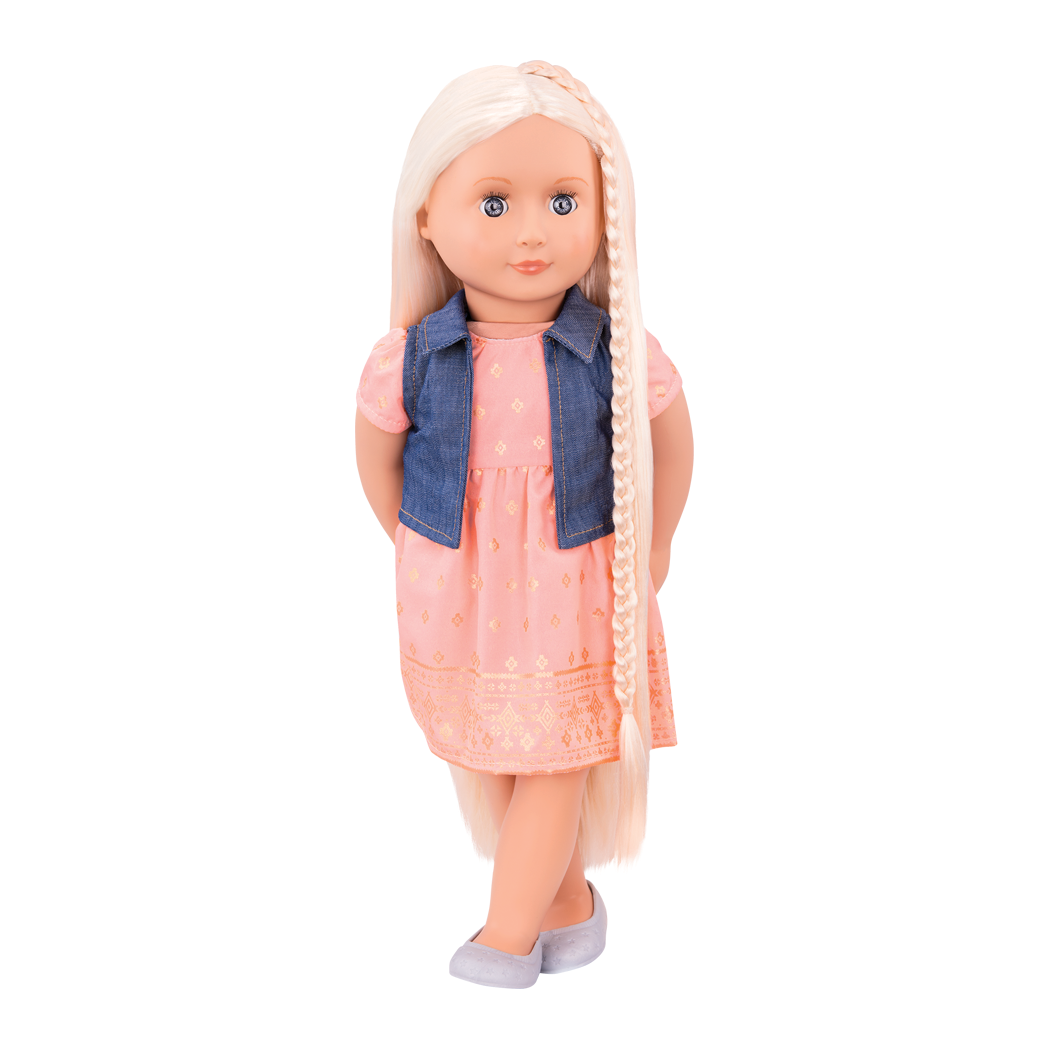 BD31203 Lyra hairplay doll standing view of doll03