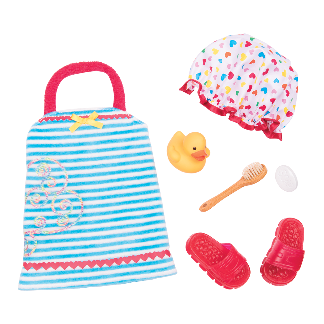 Duck and Bubbly bath outfit all components
